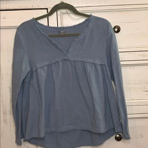 Raw Edge AE Peasant Top